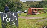 Den Pfad in Schottland gefunden