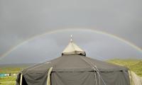 Über uns ein Regenbogen...